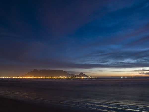 Table Mountain viewed from Blouberg