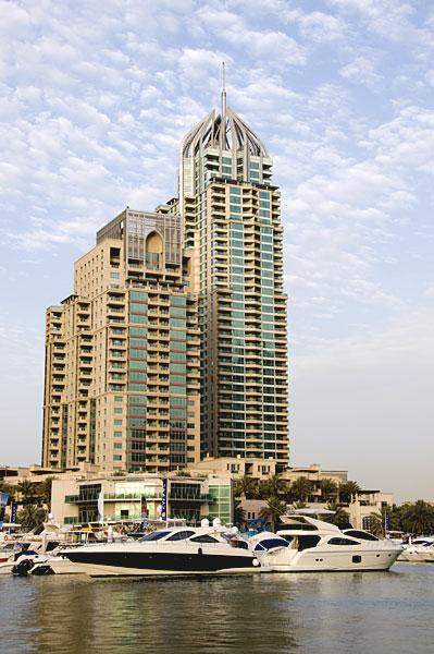 High-rise buildings in Dubai Marina