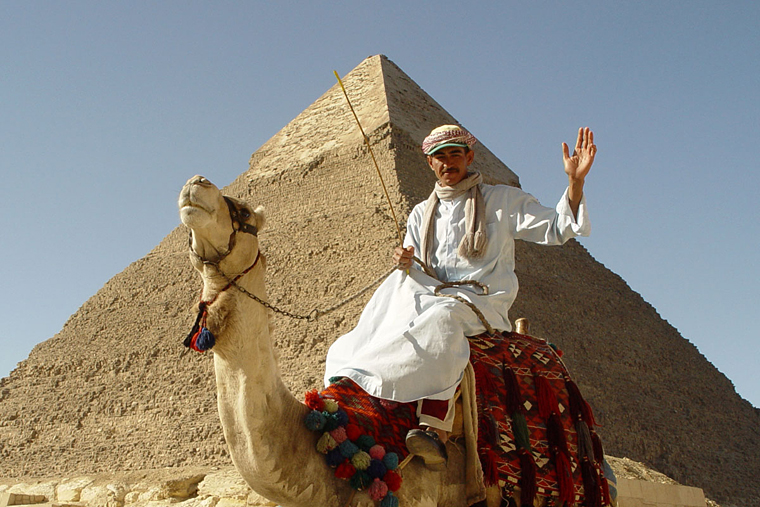 "The ""tourist"" shot in Giza"