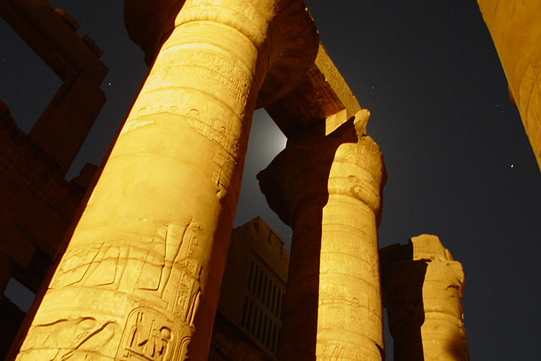 The Karnak temple during the light show