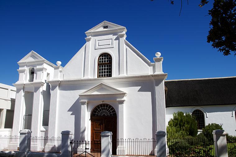 Whitewashed house in Stellenbosch