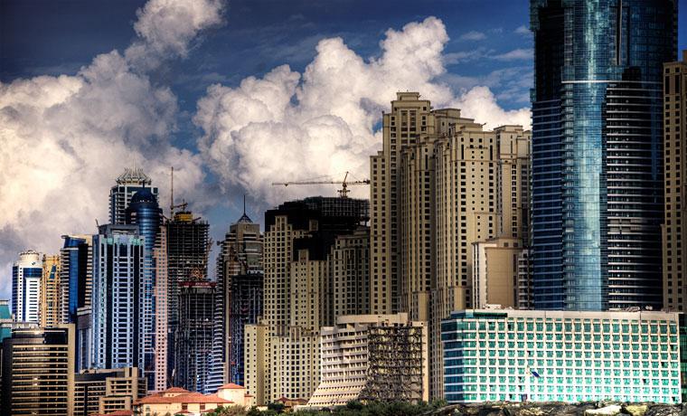Crowded skyline