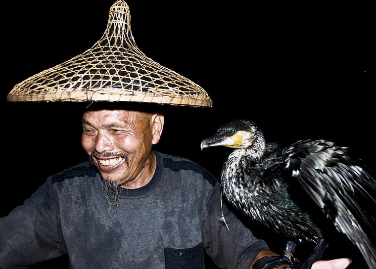 Cormoran fisherman and his bird