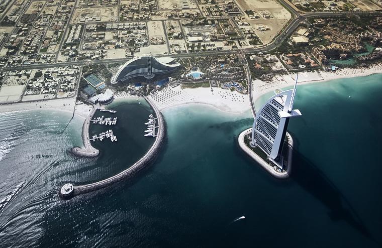High above Dubai