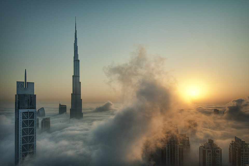 Foggy sunrise in Dubai #1