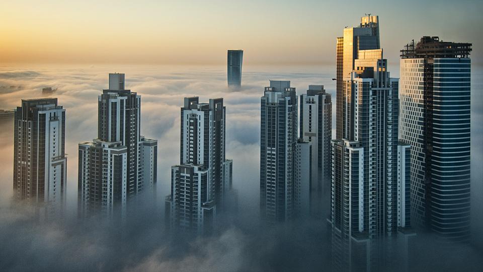 Foggy sunrise in Dubai #2