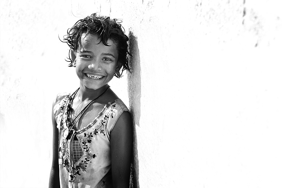 A genuine smile
