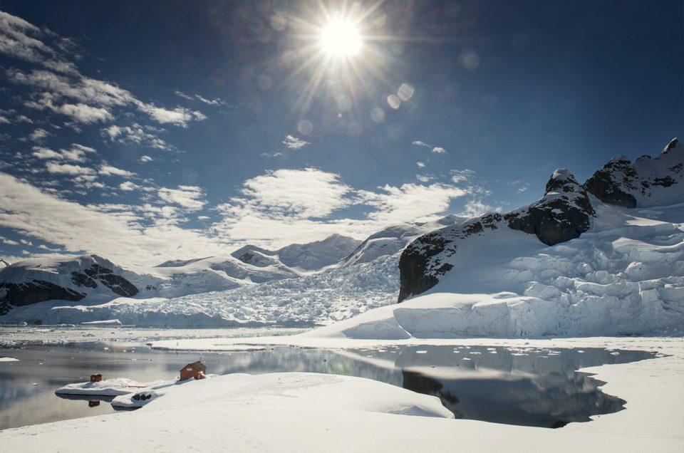 Bright Antarctic sun
