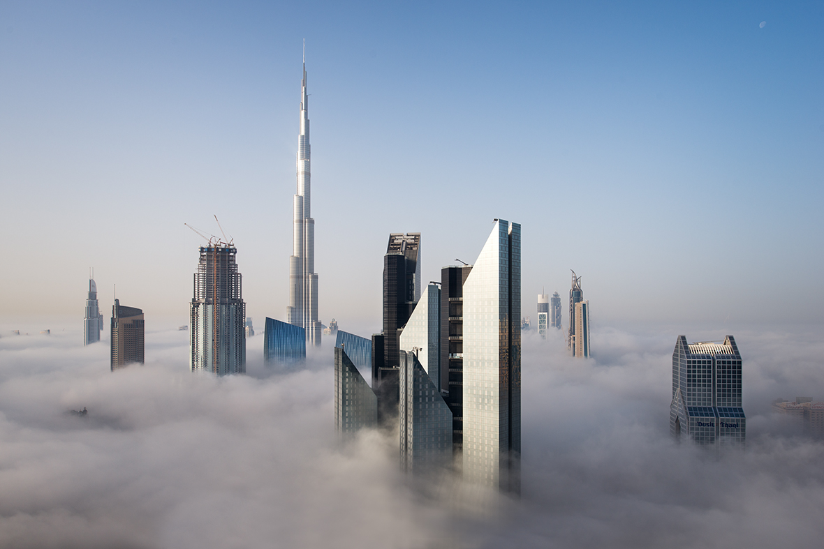 Foggy sunrise in Dubai #7 - Dubai, Middle East, United ...
