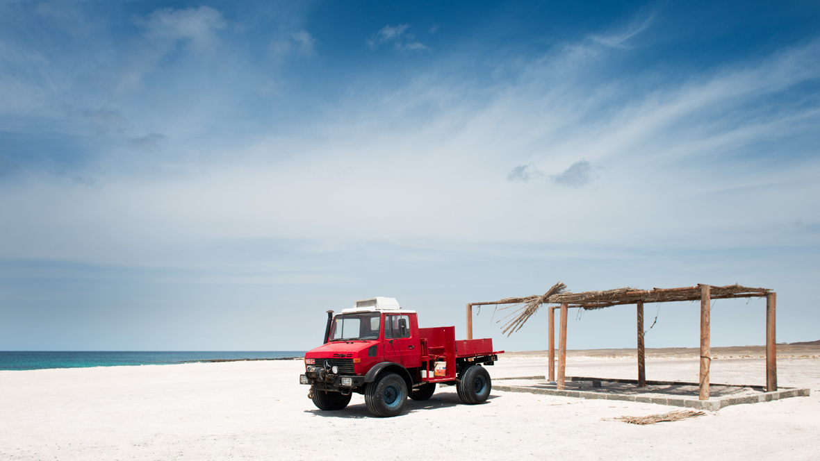 The red Unimog
