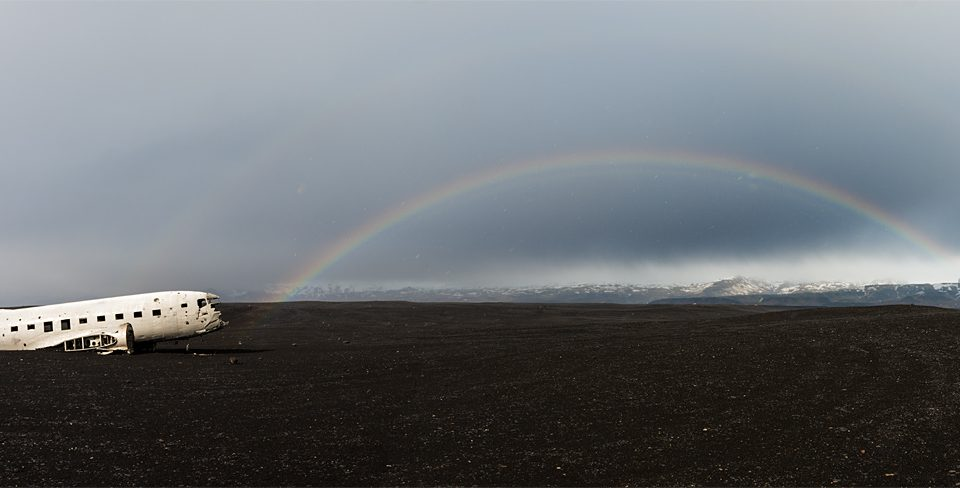 A wreck and a rainbow