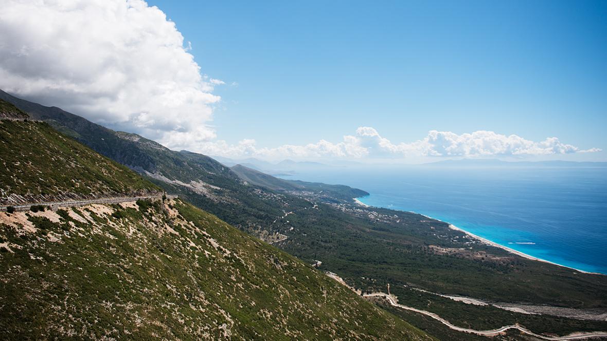 The Albanian coastline