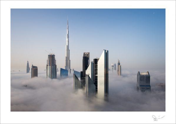 Foggy sunrise in Dubai #7