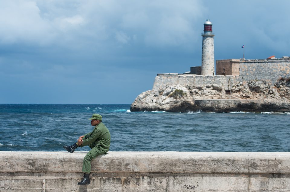 A quiet moment on the Malecón
