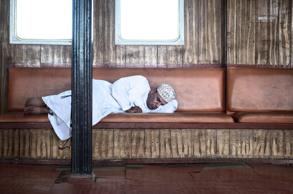 Sleeping on the ferry