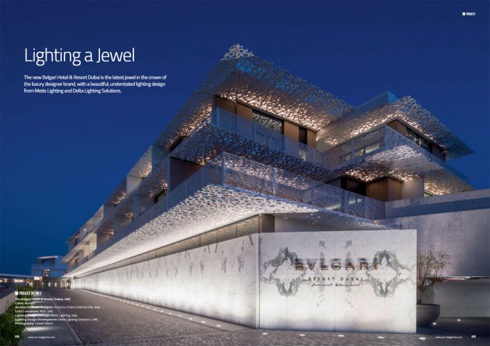 Delta Lighting Design - Bvlgari Hotel