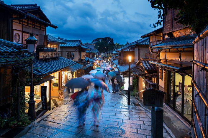 Rainy Kyoto evening
