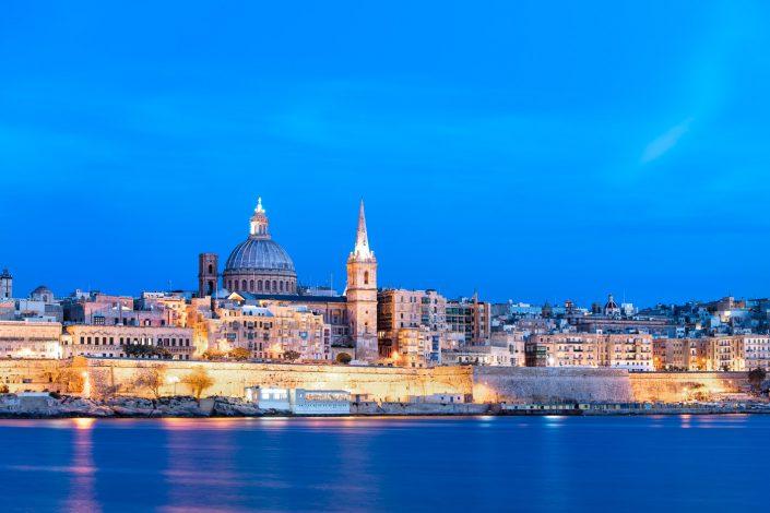 Valletta at dusk