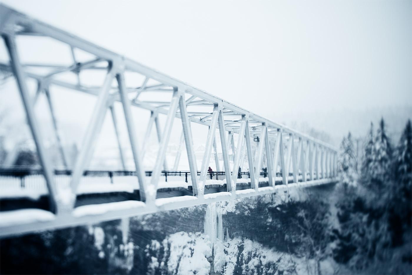 Shirahige Falls bridge