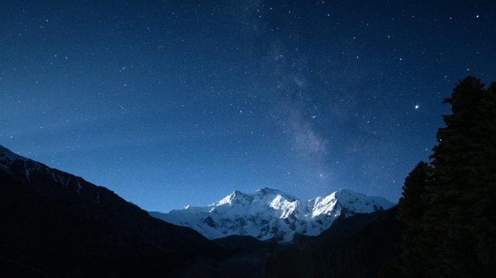 Nanga Parbat under the Milky Way