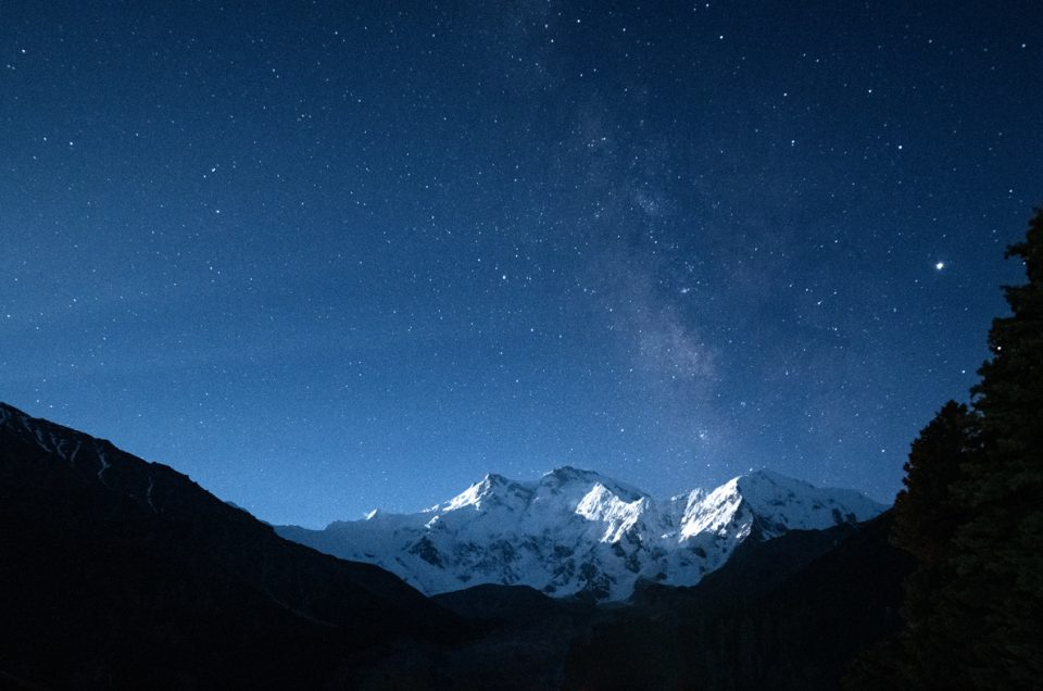 Nanga Parbat under the Milky Way