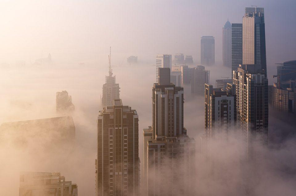 Foggy sunrise in Dubai #8