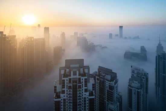 Foggy sunrise in Dubai #9