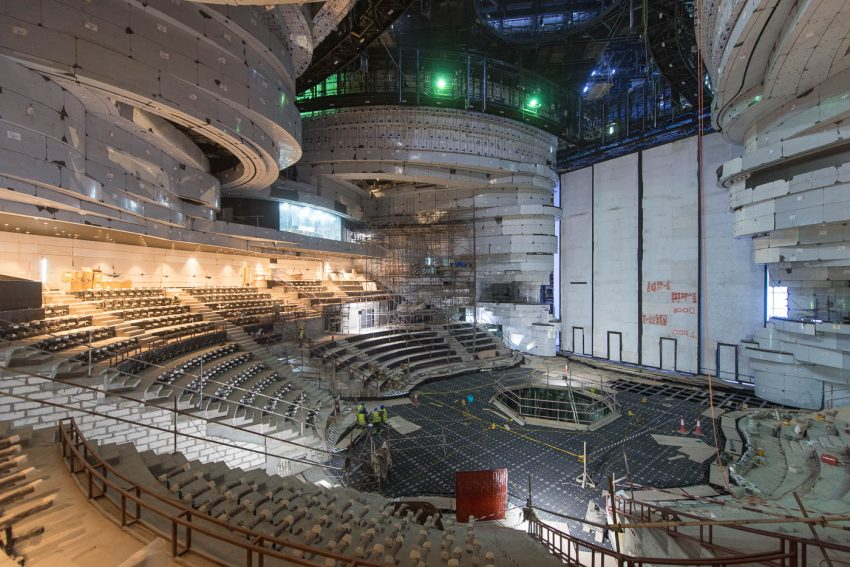 La Perle - during construction